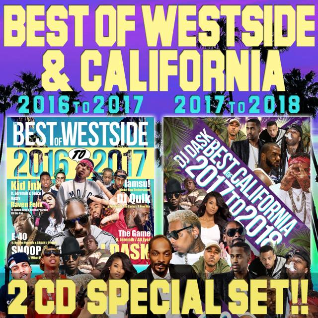 【2018年〜2016年CALIFORNIA&WEST SIDEベスト2枚組セット!!】DJ DASK / THE BEST OF CALIFORNIA&WESTSIDE 2018 〜 2016 SPECIAL 2CD SET [DKWSET-06]