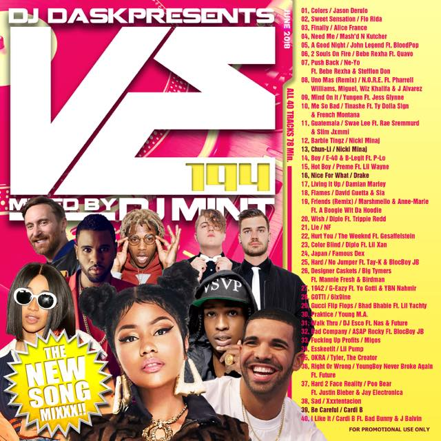 【最新!最速!!新譜MIX!!!】DJ Mint / DJ DASK Presents VE194 [VECD-94]