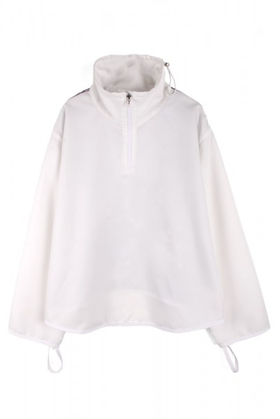 【jichoi】NECK ZIP JUMPER/WHITE