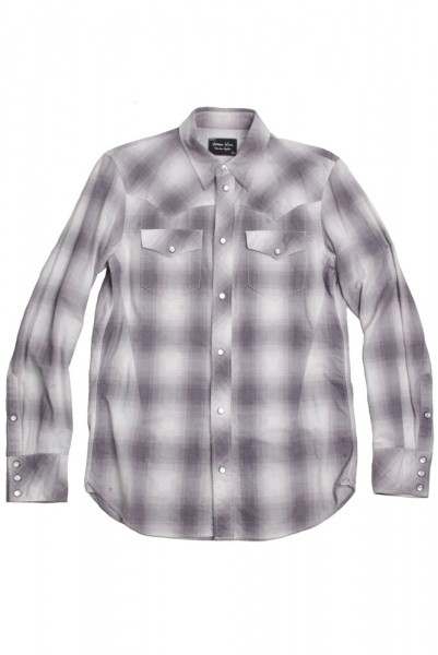 "【The duty of Youth is always do what you are afraid to do.】""Number (N)ine"" 2007A/W Love God Murder Western Check Shirt"