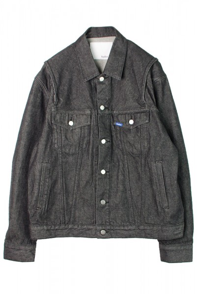 【kudos】ZIP-OPEN SLIT DENIM JACKET/BLACK