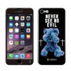 GizmobiesギズモビーズMILKBOY カバーシールfor iPhone7/iPhone8《SEE NO EVILBEARS BK》ZN-0042-IP07