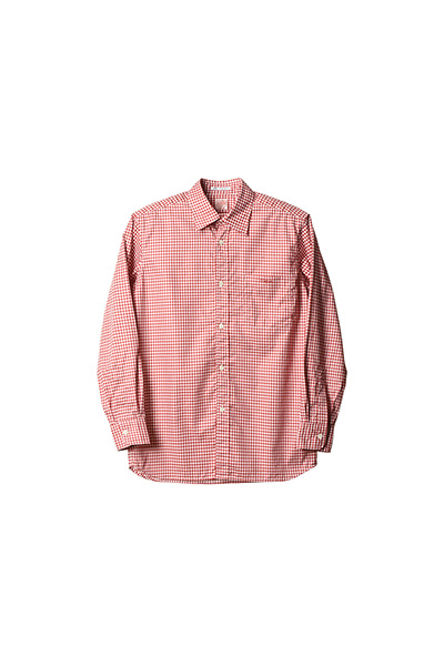 STANDARD CALIFORNIA スタンダードカリフォルニア|18SS SD THOMAS MASON FABRIC TRADITIONAL SHIRT RED
