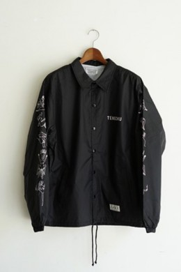 WACKOMARIA(ワコマリア)|NUDE GIRL COACH JACKET BLACK